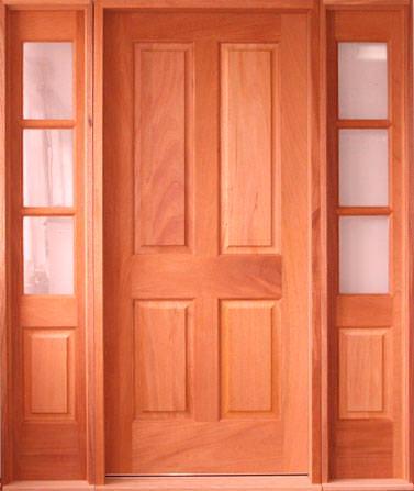 Puertas de madera macizas puertas de madera exterior - Puertas de madera entrada principal ...