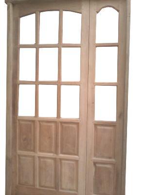 Puertas de madera puertas aberturas de madera for Fabrica de aberturas de madera en rosario